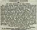 Cutting from The Times, containing a letter from Lang and Co. headed 'Children's Balloons'
